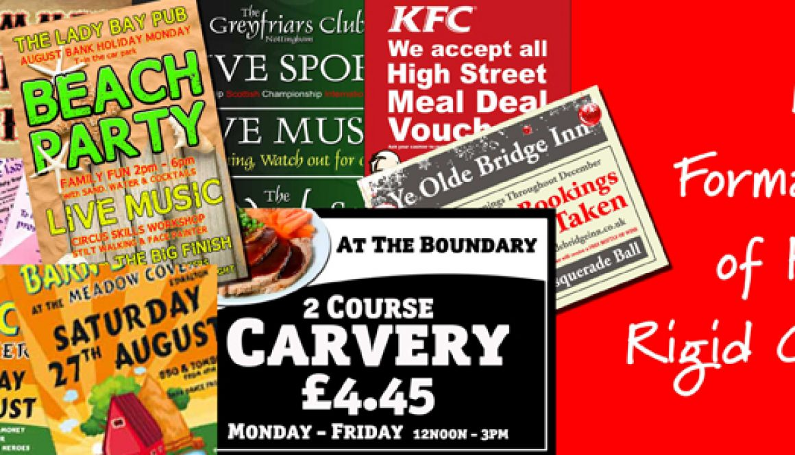 example work produced by pictorial, different menus